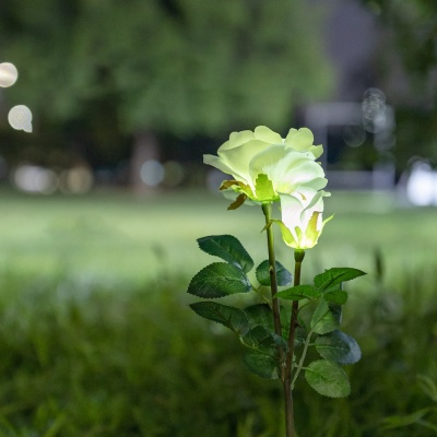 LED 정원등 가든램프 /장미 White/태양광충전 LCSS965