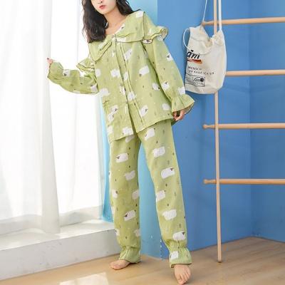 양떼목장 잠옷세트(M) (그린)