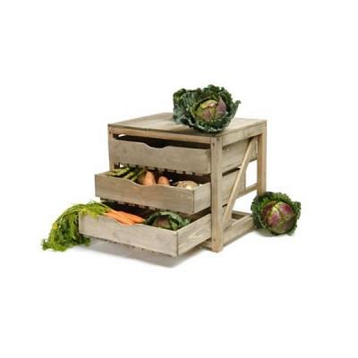 [Garden trading]3 Drawer Pine Vegetable Storage Unit VSWO01 수납장