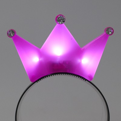 LED점등 왕관머리띠 (핑크)