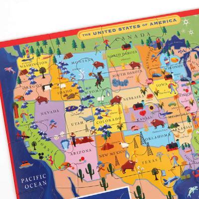 미국지도 20피스 퍼즐 (3세이상, 큰피스, 28X38cm)