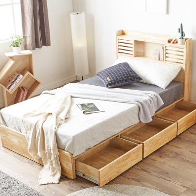[노하우] 베르 LED 원목 SS 침대 (독립매트포함)