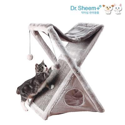 닥터심 고양이 접이식 스크래쳐 하우스 접이식수납