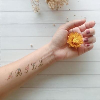 페이퍼셀프 타투스티커 - 21. Floral Alphabet