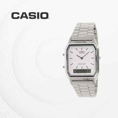 카시오 아날로그 전자시계 메탈 손목시계 AQ-230A-7D