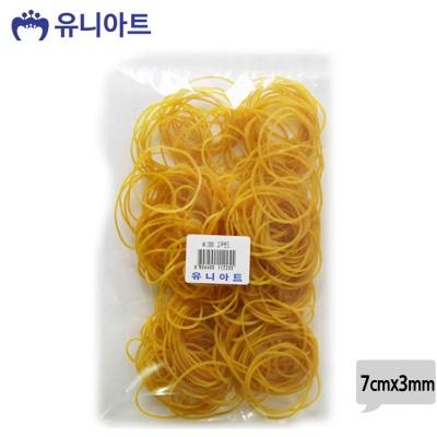유니아트 2000 노랑 고무줄 (7cmx3mm)