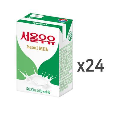 [서울우유]서울 멸균우유 200mlx24팩