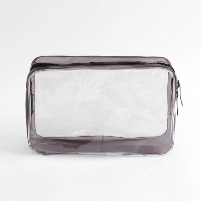 블랙라인 사각 투명 파우치/ 방수 PVC 여행파우치