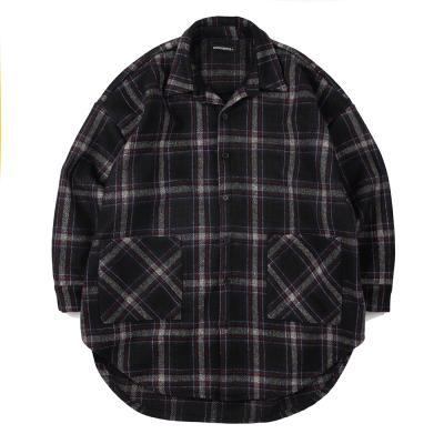 CB 체크 셔츠 자켓 (네이비)