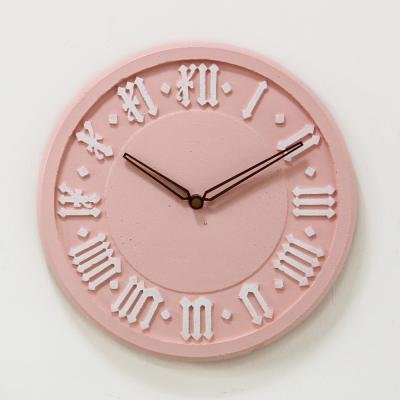(ksiw042)저소음 클래식 핑크 로마 벽시계