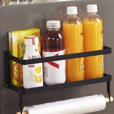 뉴 철제 마그네틱 냉장고 사이드 자석 수납선반 1단