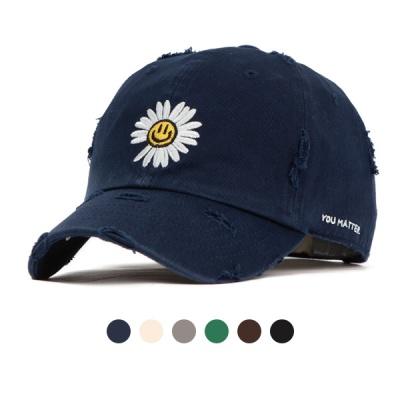 [디꾸보]플라워 총알 워싱 코튼 볼캡 모자 AL159