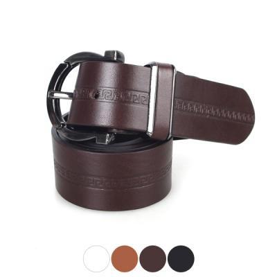 [디꾸보]배색 흑버클 가죽 남성벨트 DCB-ST413