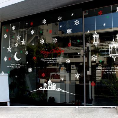 제제데코 크리스마스 눈꽃 스티커 장식 CMS4J020