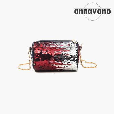 annavono PVC 스팽글 크로스백_A183PVCB02