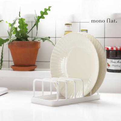 모노플랫 접시 정리대 1입 그릇 컵 정리 수납 선반