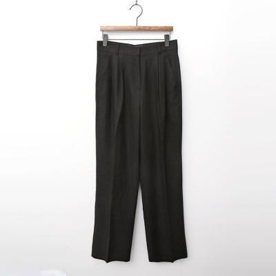 Linen Cotton Bootcut Crop Pants