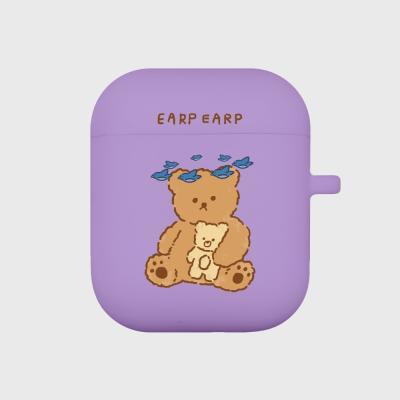 blue bird bear-purple(Air pods)