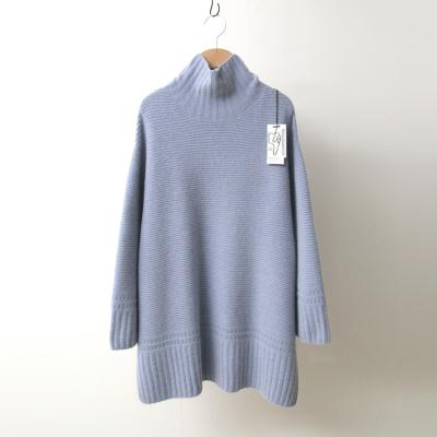 Maille Raccoon Wool Bell Turtleneck Sweater
