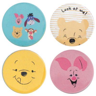 정품 디즈니 곰돌이 푸우 양면손거울