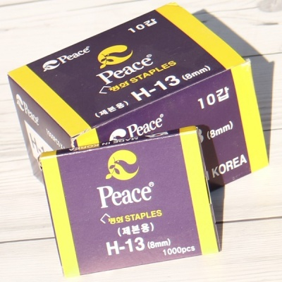 8mm 1박스(10갑)-제본용 강력 스테플러에 사용하는..피스코리아 H-13(H13)호 침/심