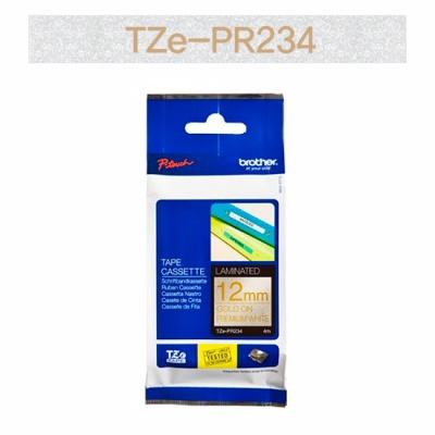 브라더정품 라벨테이프 TZe-PR234(12mm x 4M) (프리미엄화이트바탕/금색글씨)