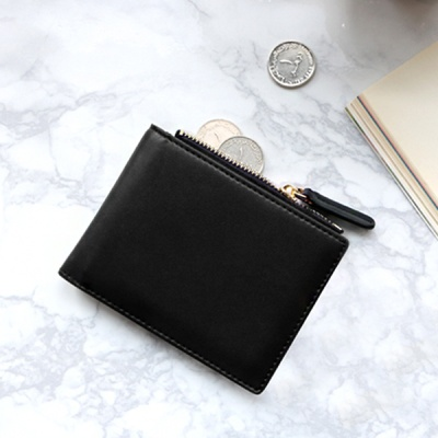 D.LAB Coin Half wallet  - Black