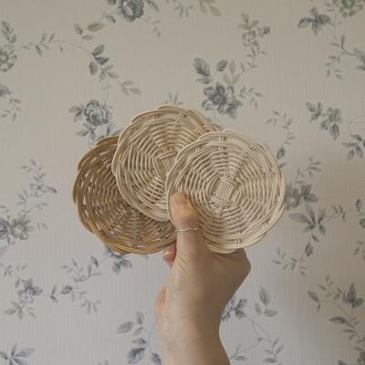 라탄 컵받침 2개 만들기 - 라탄 동영상 강의 DIY KIT