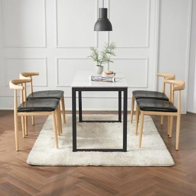 안톤 세라믹 마블 식탁 세트B 1200 + 의자 4개포함
