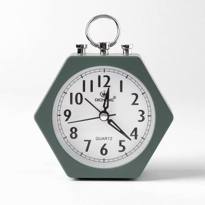 퀴리 육각 알람 탁상시계(그린)