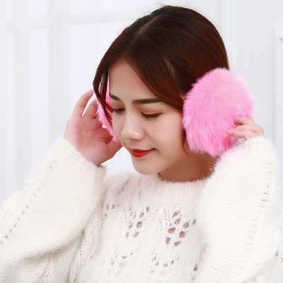 겨울엔 털귀마개(핑크) 보온 방한 귀도리