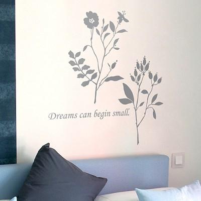 [디자인베이]  손안에피는꽃 (완제품A타입) 그래픽스티커 식물꽃 포인트 시트지