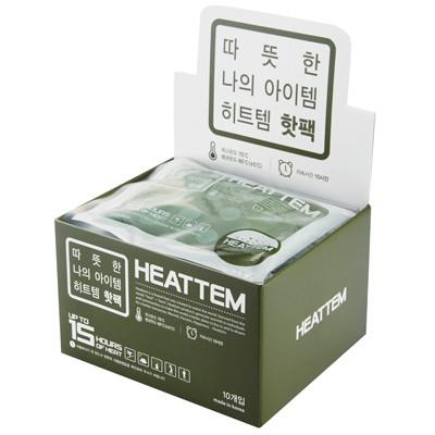 히트템 핫팩 - 그린 손난로용 (10개입/비닐포장)