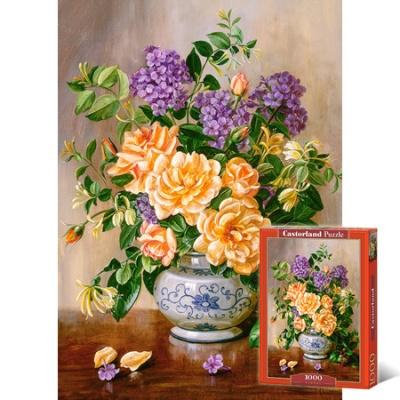 1000조각 직소퍼즐▶ 꽃무늬가 있는 화병 정물화 [LD103928]