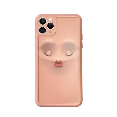 아이폰 카메라렌즈보호 눈 표정 페이스 실리콘 케이스