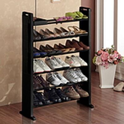 현관 수납 정리 공간 활용 슬림한 오픈 신발장 (6단)