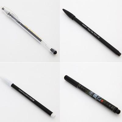 압화 예단편지에 쓰기 좋은 펜 (1개만 배송되는 상품 - 택1하세요)