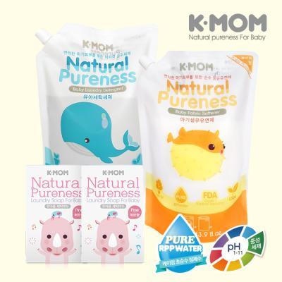 [케이맘] 아기세제 세탁비누 9900원 세트 (세탁세제+유연제(포근향)+세탁비누 2개)