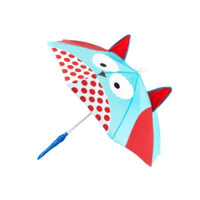 세이프가드 유아용 LED 멜로디 우산 부엉이 하늘색