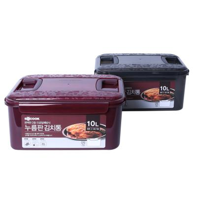 김치통 10L 와인/블랙 택 1