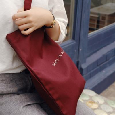 [버빌리안] BASIC ECO BAG (BURGUNDY)