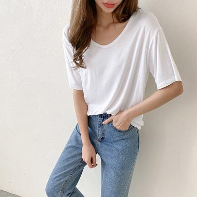 [SET] Easy U-Neck Tee 2qty