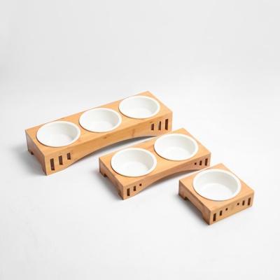 [봉봉펫] 강아지 고양이 원목 급식기
