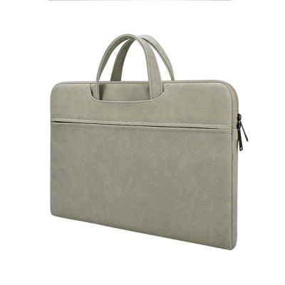 히든 손잡이 노트북파우치 가방(그레이) (43x31cm)