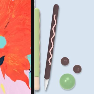애플 펜슬 1세대 2세대 귀여운 마카롱 실리콘 케이스