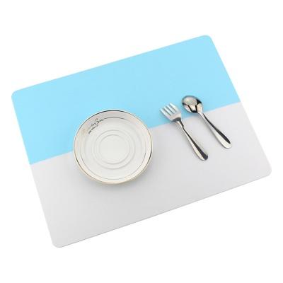 투톤 실리콘 식탁 매트(스카이)