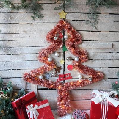 크리스마스 샤틴모루 벽트리 세트 (로즈골드)