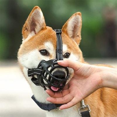 봉봉펫 개 강아지 블랙 입마개 소형견 중형견 대형견