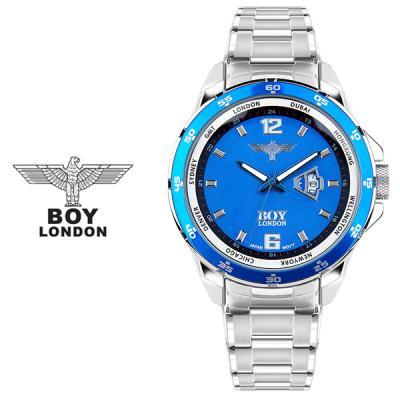 보이런던시계 BLD307-블루 남성 메탈 손목시계