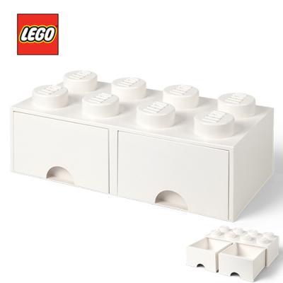 [LEGO]레고 블럭 서랍 정리함 8구_화이트/ 서랍형